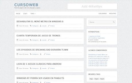 Crear una pagina web avanzada en php - Curso completo
